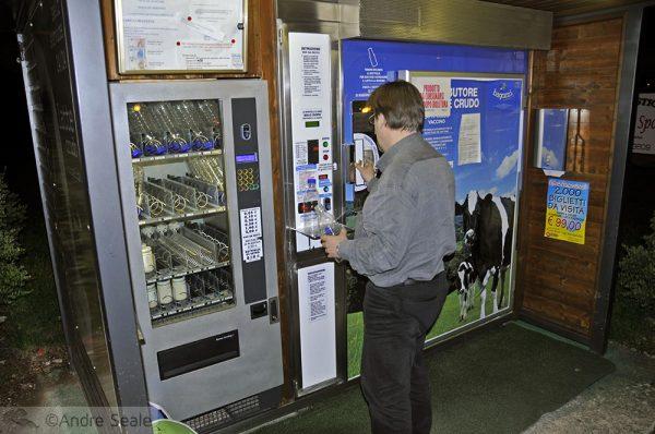 A máquina de leite