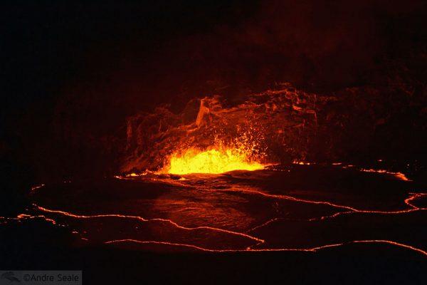 O espetáculo da erupção do Kilauea