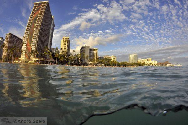 Waikiki em tempos de elevação dos mares