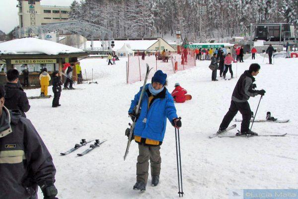 Esquiando no Yongpyong Alpine Centre